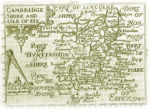 Old Map of Cambridgeshire