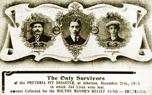 Three Survivors of the Pretoria Pit Explosion: Sharples, Staveley and Davenport